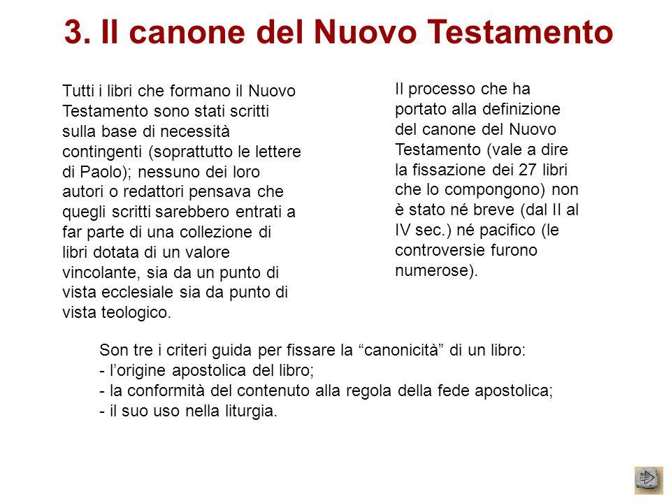 3. Il canone del Nuovo Testamento