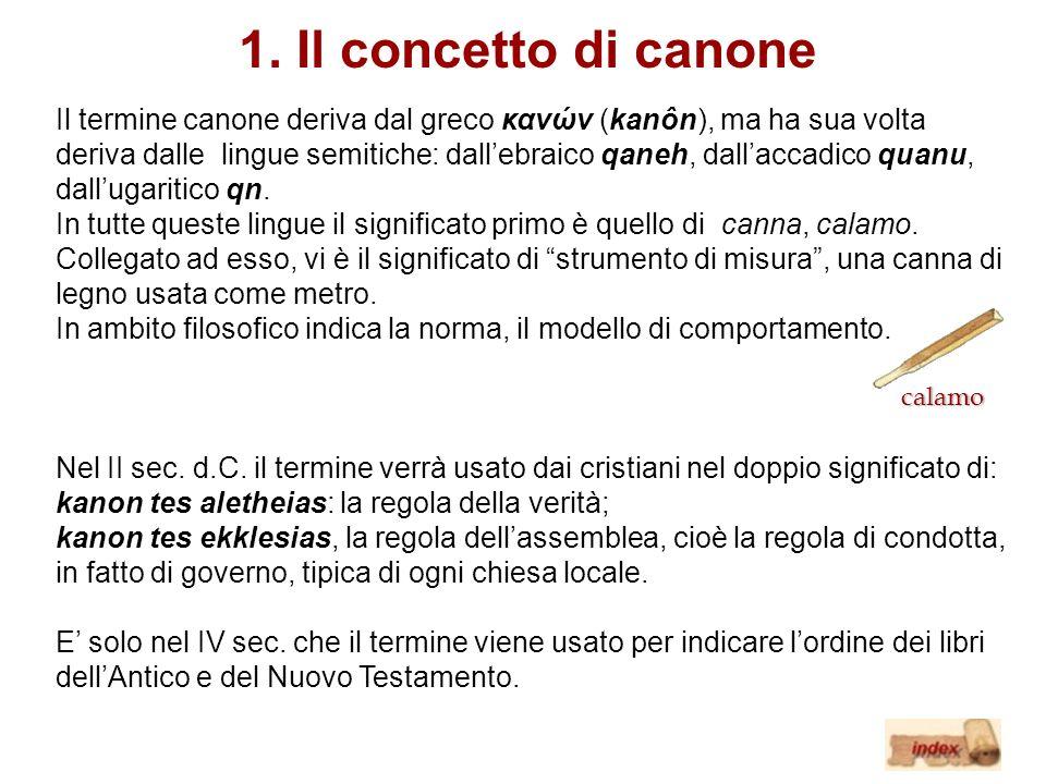 1. Il concetto di canone