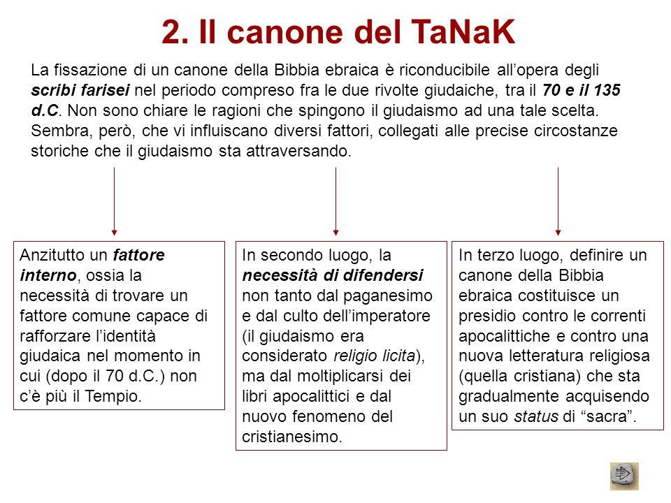 2. Il canone del TaNaK