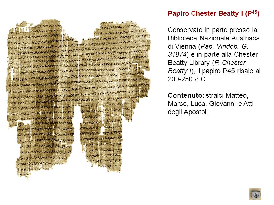 Papiro Chester Beatty I (P45)