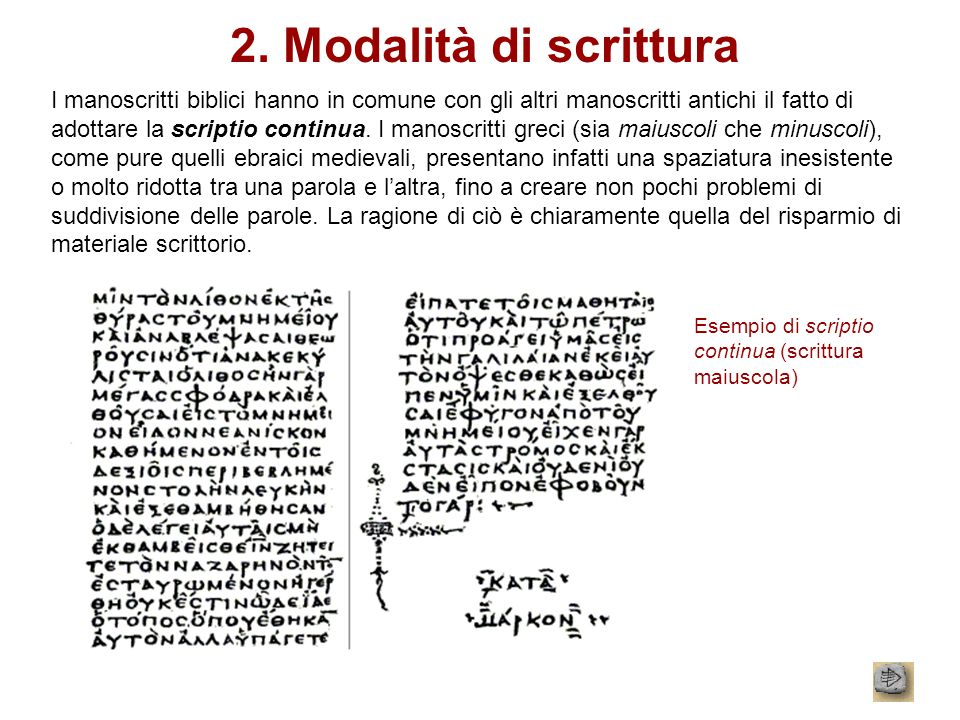 2. Modalità di scrittura