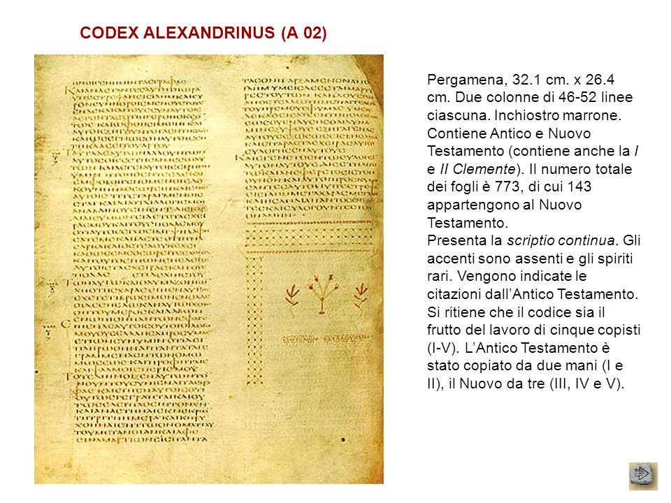 CODEX ALEXANDRINUS (A 02)