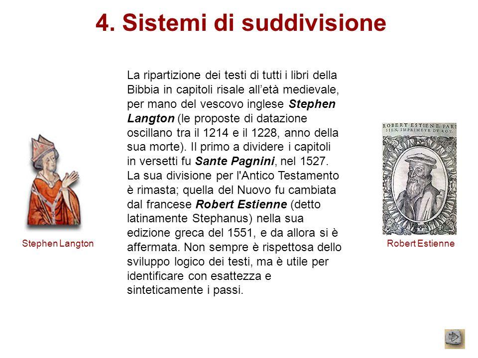 4. Sistemi di suddivisione