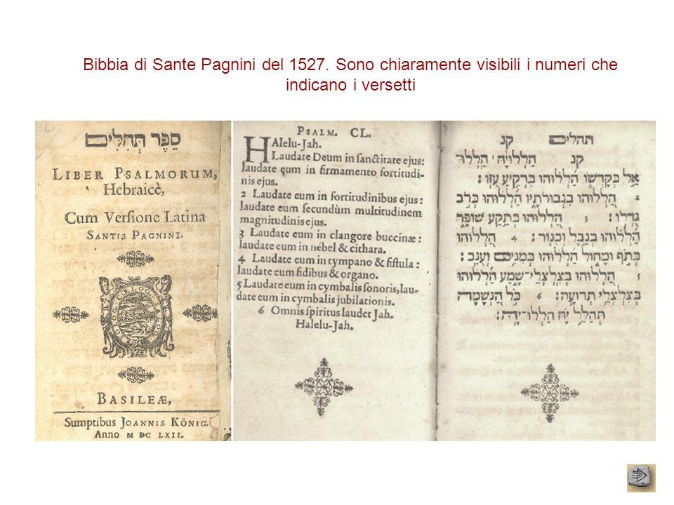 Bibbia di Sante Pagnini del 1527