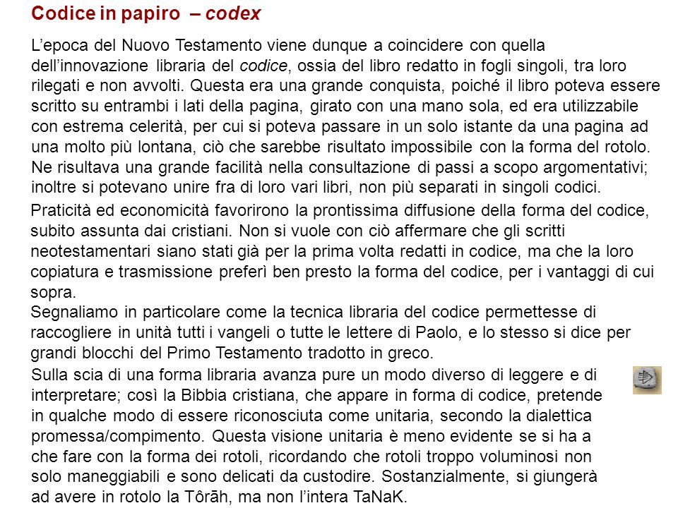 Codice in papiro – codex
