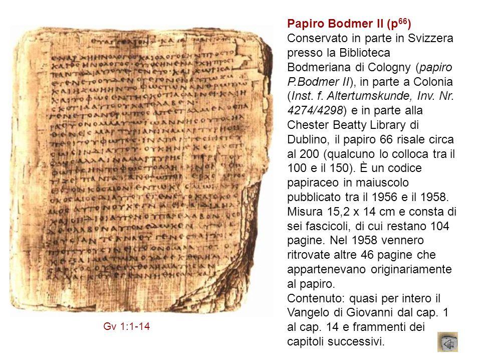 Papiro Bodmer II (p66)