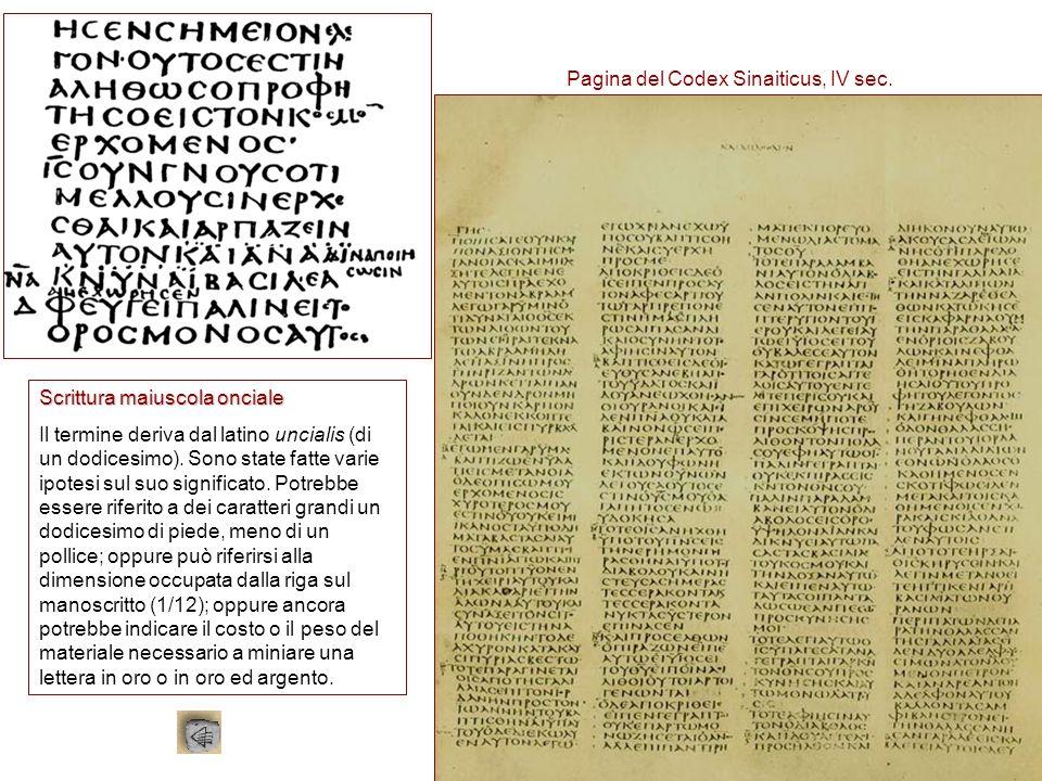 Pagina del Codex Sinaiticus, IV sec.