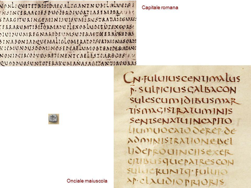 Capitale romana Onciale maiuscola