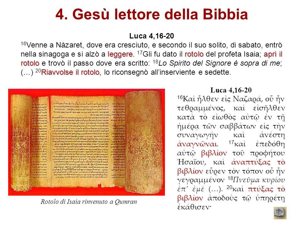 4. Gesù lettore della Bibbia