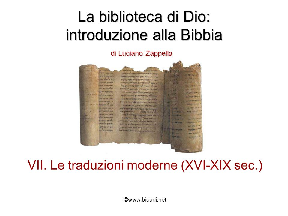 La biblioteca di Dio: introduzione alla Bibbia