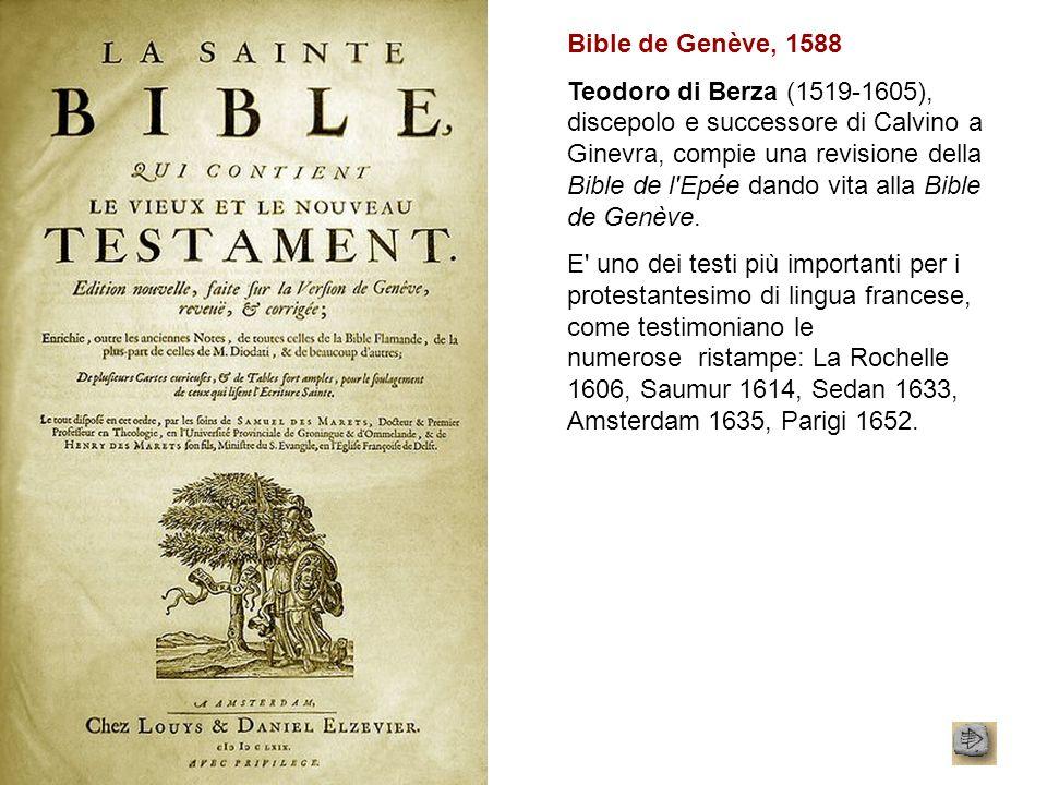 Bible de Genève, 1588