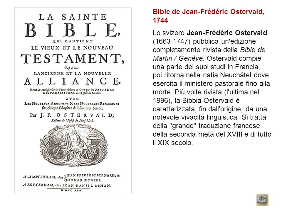 Bible de Jean-Frédéric Ostervald, 1744