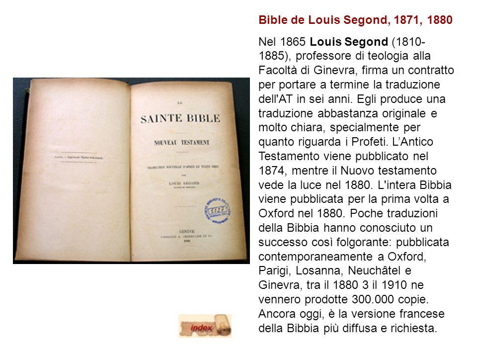 Bible de Louis Segond, 1871, 1880
