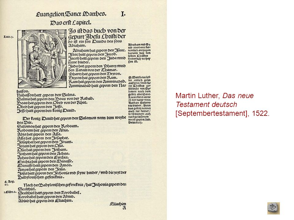 Martin Luther, Das neue Testament deutsch [Septembertestament], 1522.