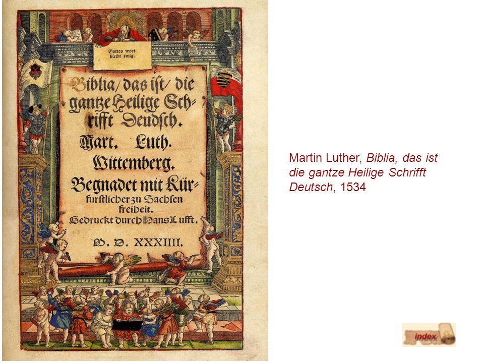 Martin Luther, Biblia, das ist die gantze Heilige Schrifft Deutsch, 1534
