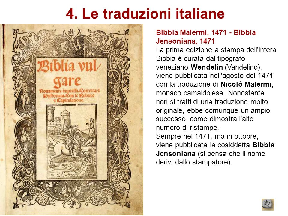 4. Le traduzioni italiane