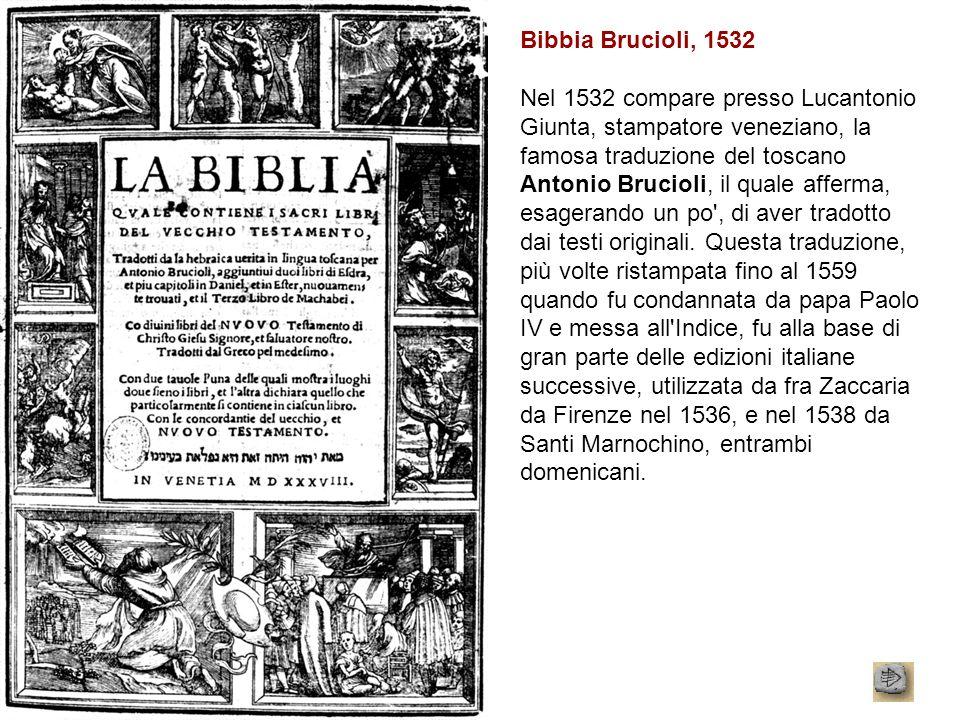 Bibbia Brucioli, 1532