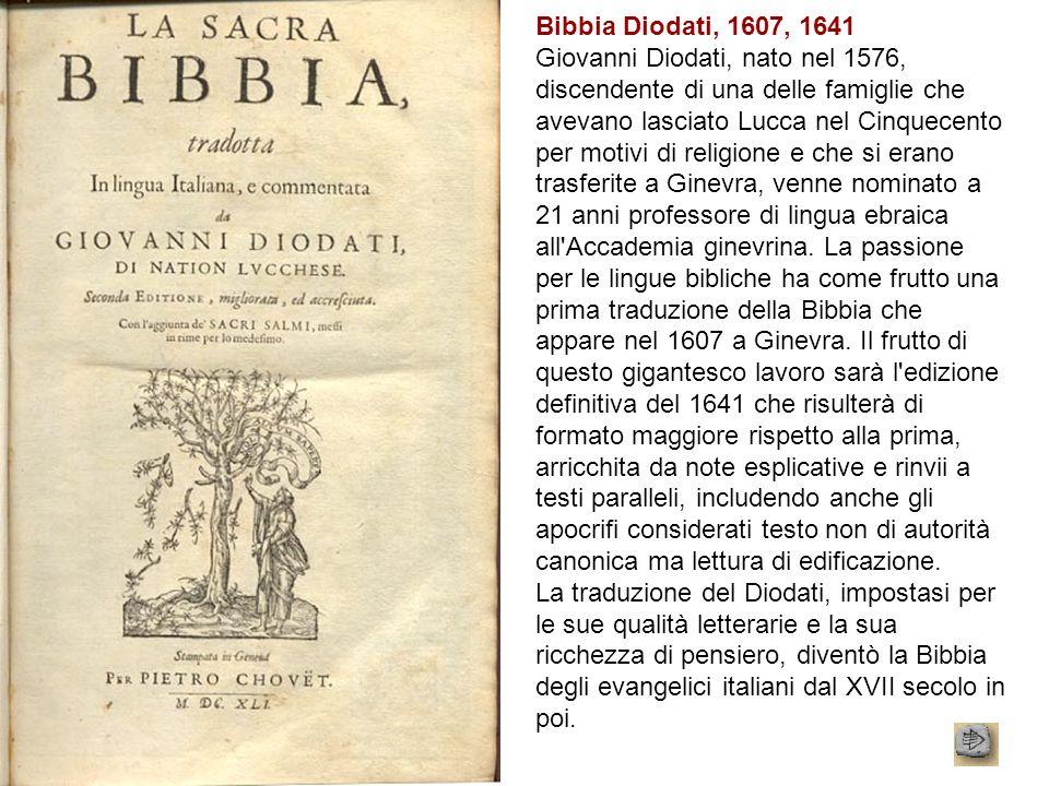 Bibbia Diodati, 1607, 1641