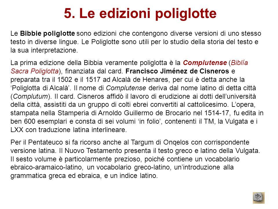5. Le edizioni poliglotte