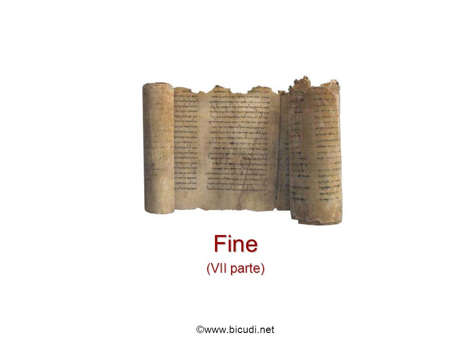 Fine (VII parte) ©www.bicudi.net