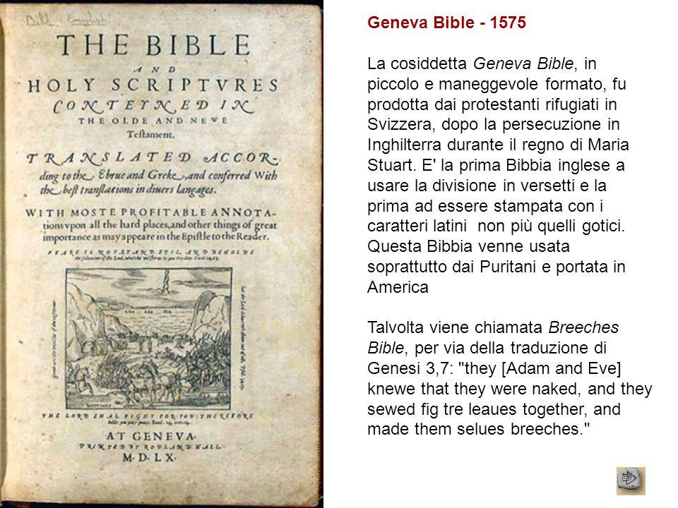 Geneva Bible - 1575
