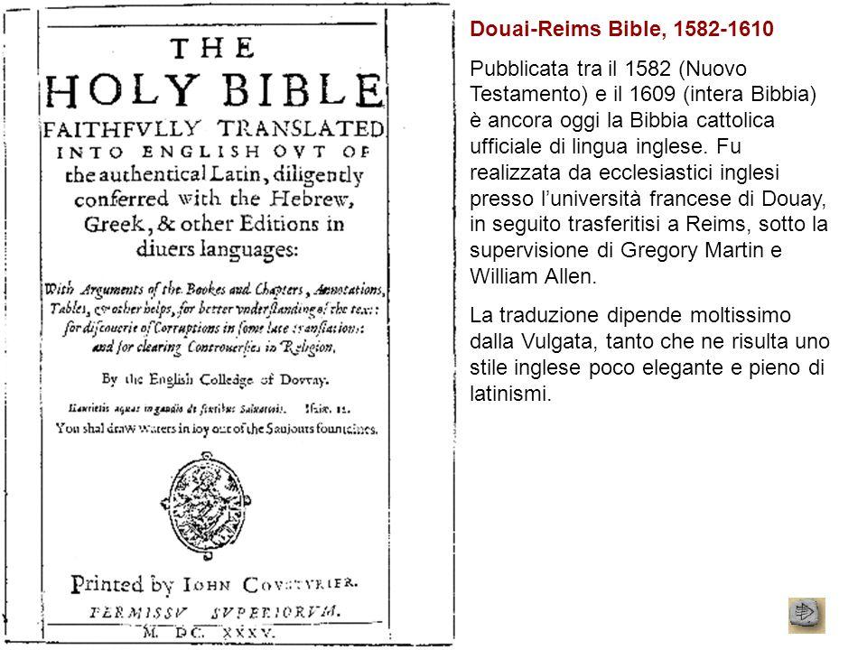 Douai-Reims Bible, 1582-1610