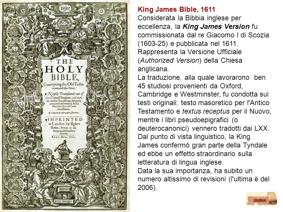 King James Bible, 1611