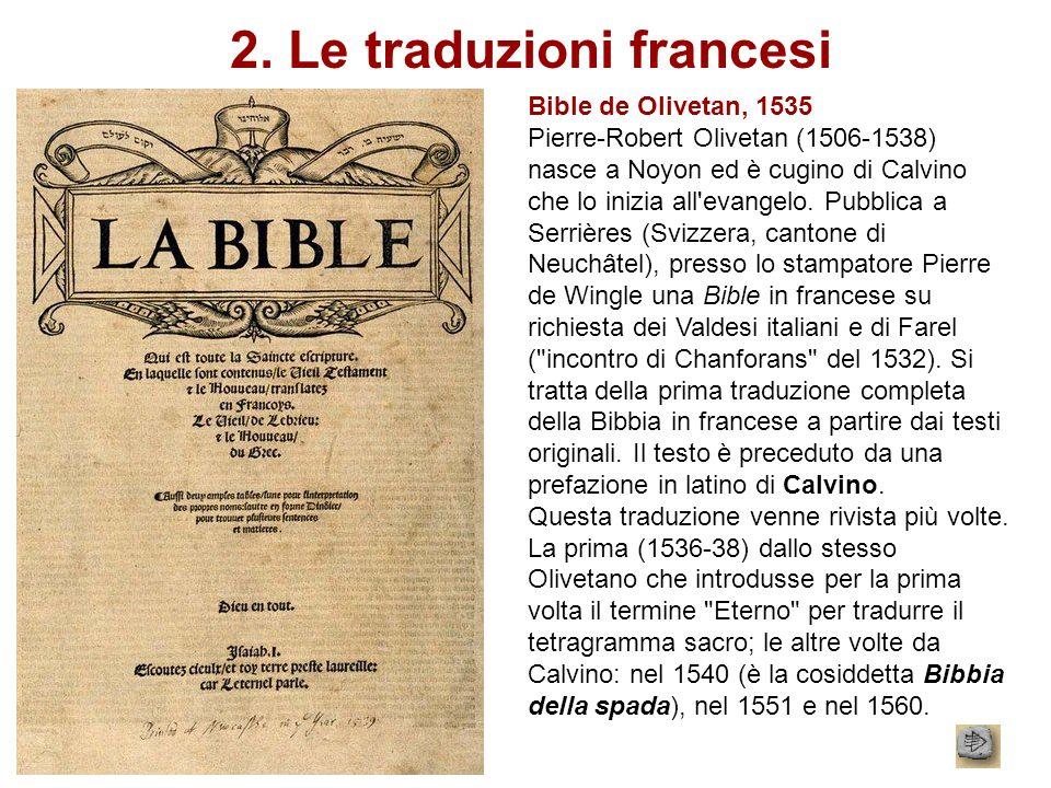 2. Le traduzioni francesi