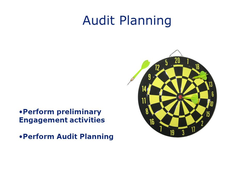 Audit Planning Perform preliminary Engagement activities