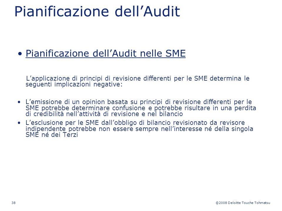 Pianificazione dell'Audit