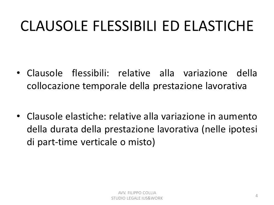 CLAUSOLE FLESSIBILI ED ELASTICHE