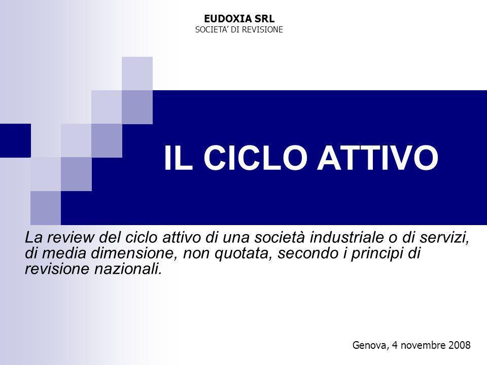 EUDOXIA SRL SOCIETA' DI REVISIONE. IL CICLO ATTIVO.