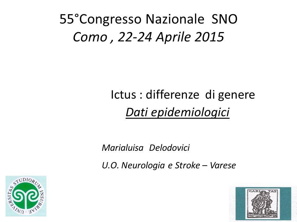 55°Congresso Nazionale SNO Como , 22-24 Aprile 2015