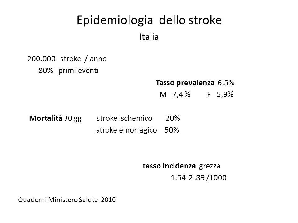 Epidemiologia dello stroke Italia