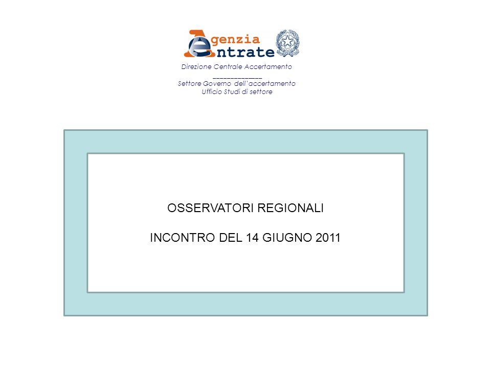 OSSERVATORI REGIONALI INCONTRO DEL 14 GIUGNO 2011