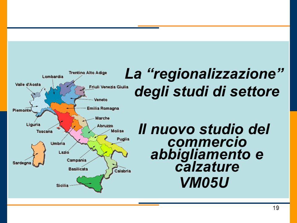 La regionalizzazione degli studi di settore