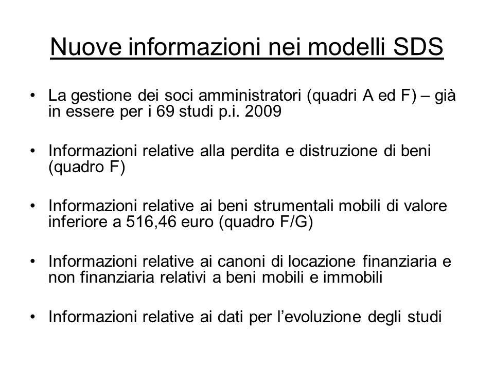 Nuove informazioni nei modelli SDS