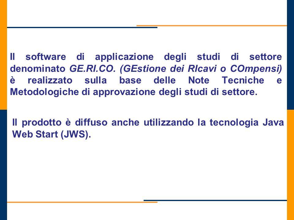 Il software di applicazione degli studi di settore denominato GE. RI