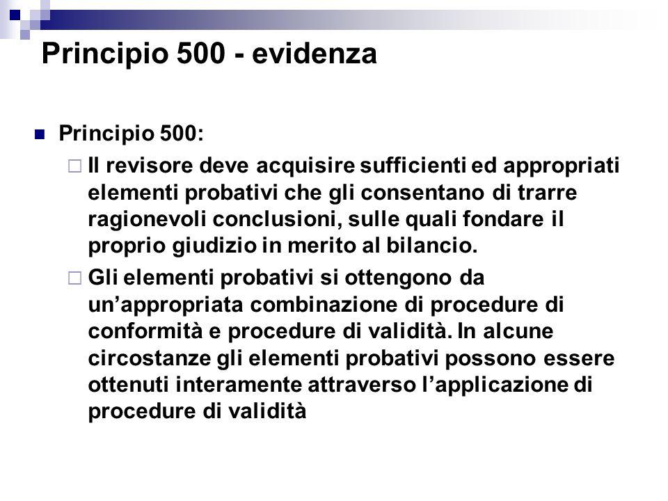 Principio 500 - evidenza Principio 500: