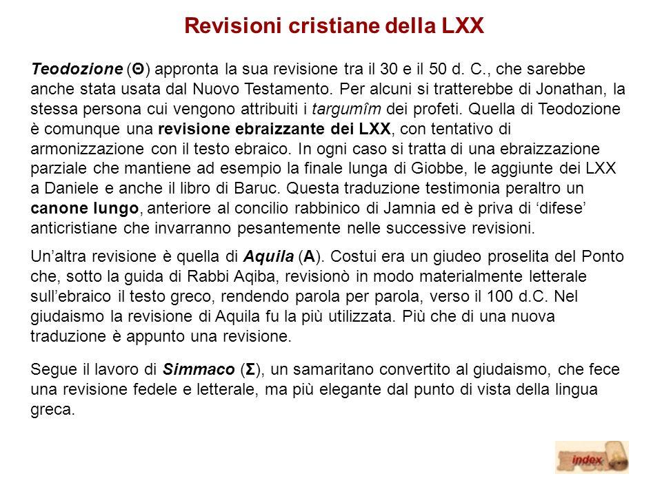 Revisioni cristiane della LXX