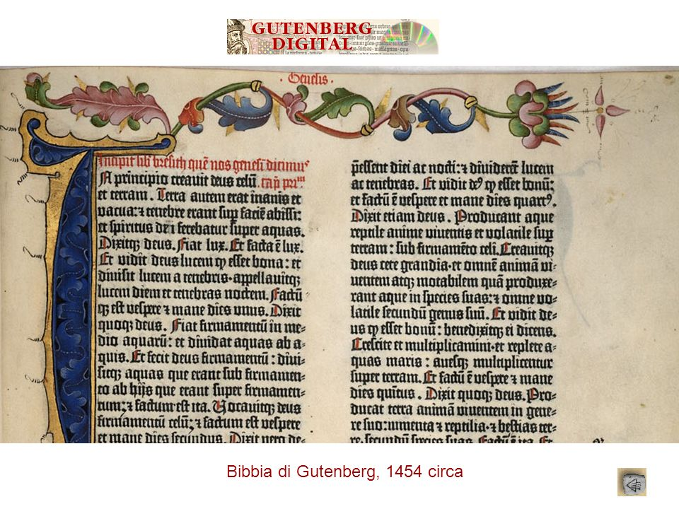 Bibbia di Gutenberg, 1454 circa