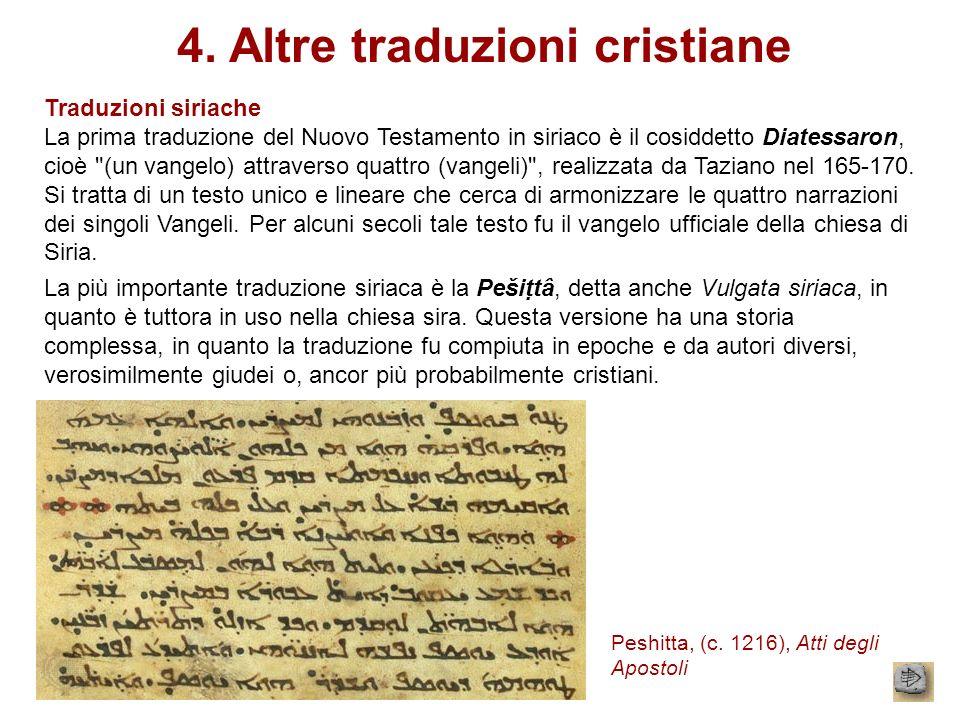 4. Altre traduzioni cristiane
