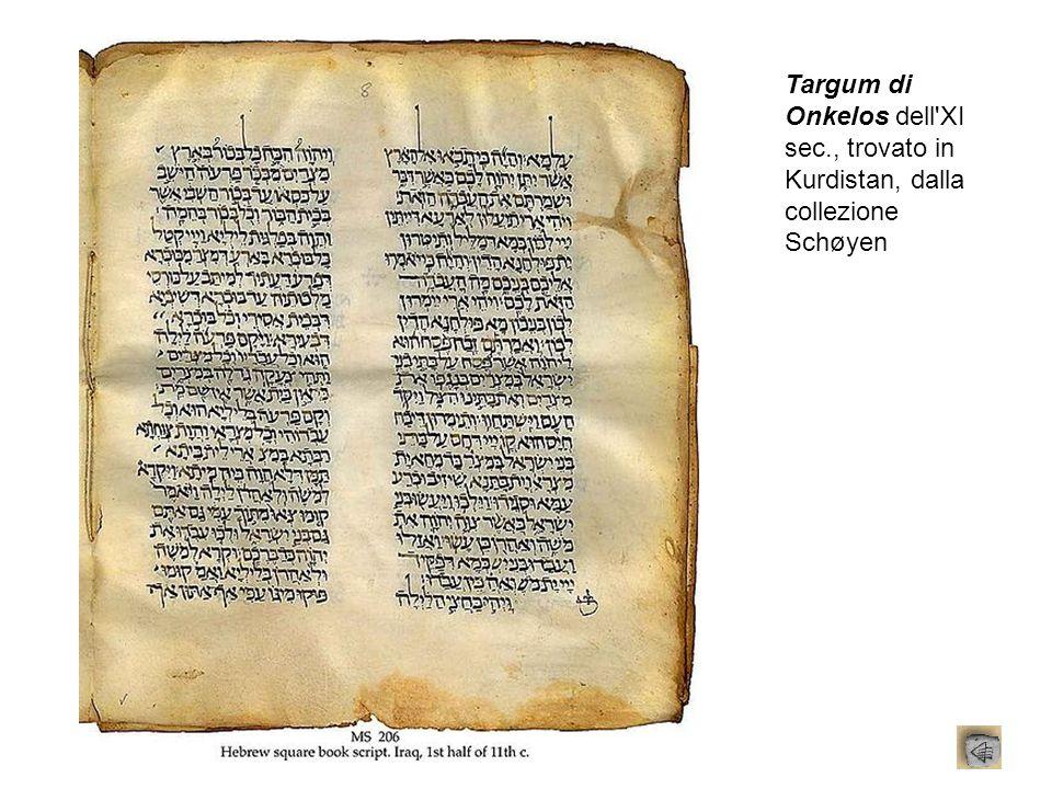 Targum di Onkelos dell XI sec