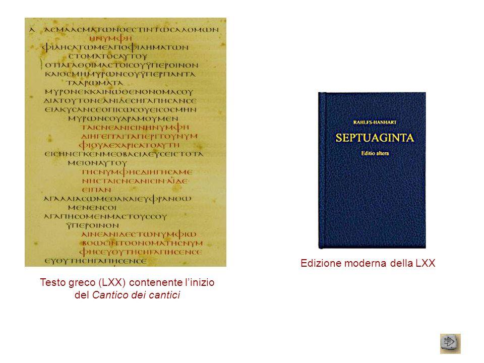Edizione moderna della LXX