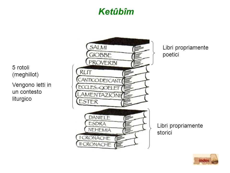 Ketûbîm Libri propriamente poetici 5 rotoli (meghillot)