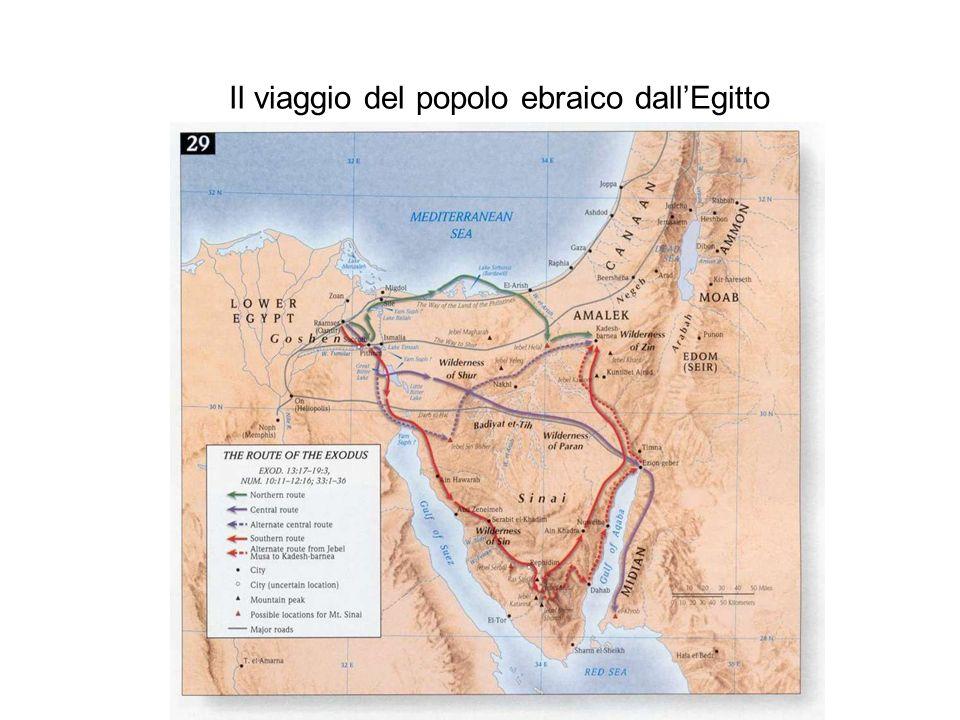 Il viaggio del popolo ebraico dall'Egitto
