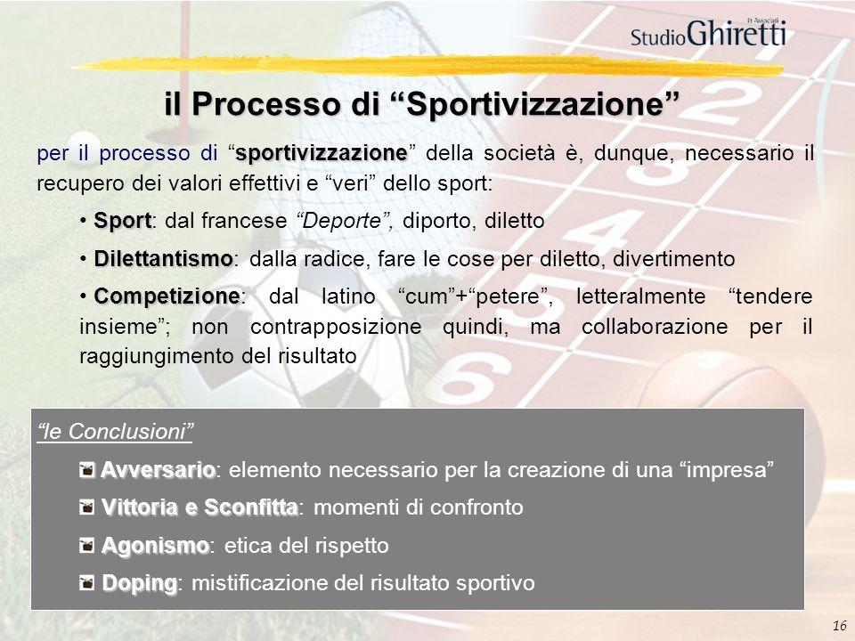 il Processo di Sportivizzazione