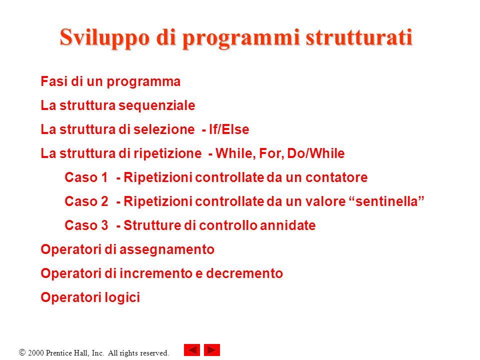 Sviluppo di programmi strutturati