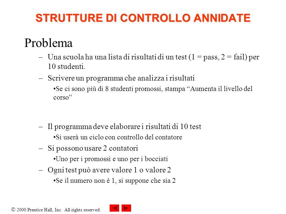 STRUTTURE DI CONTROLLO ANNIDATE