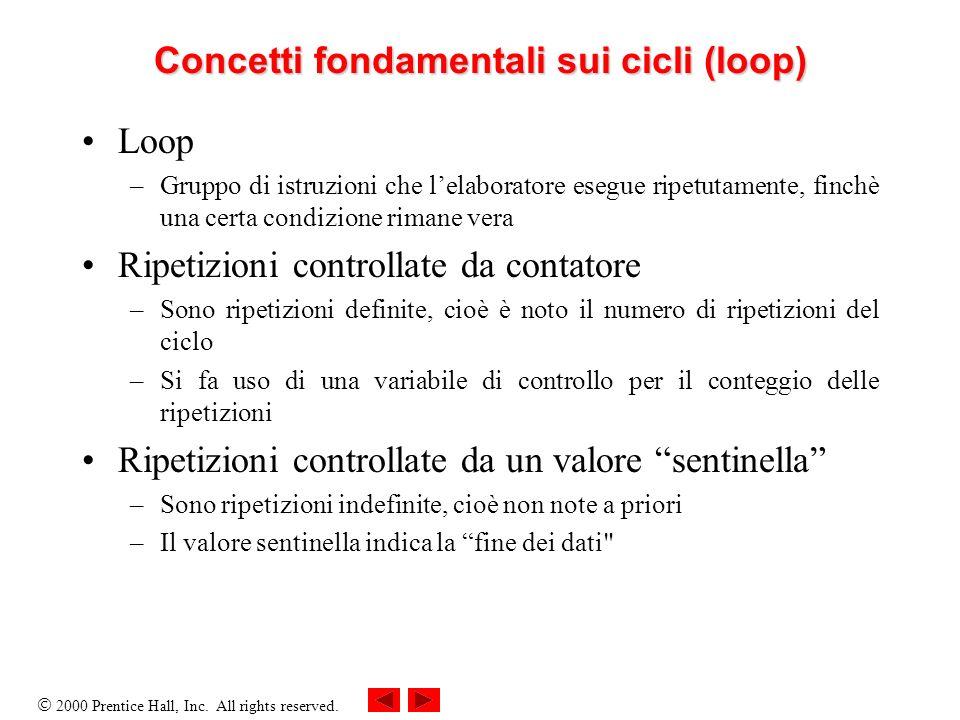Concetti fondamentali sui cicli (loop)